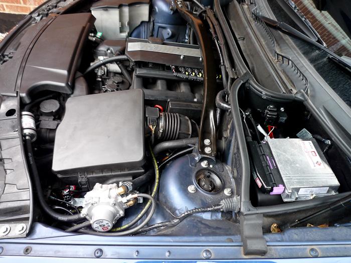 BMW X3 LPG Conversion Engine Bay Overview